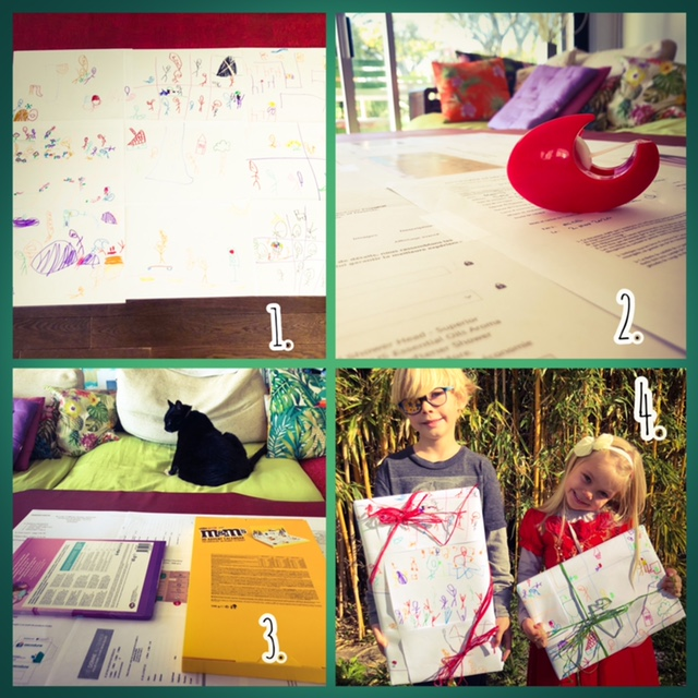 Repurpose printer paper Kids cover